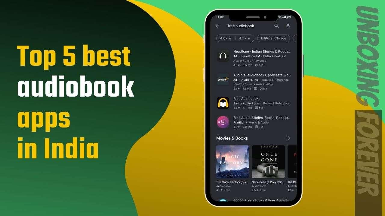 Top 5 best audiobook apps in India